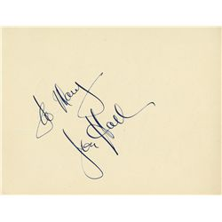 WALT DISNEY LARGE CLIPPED AUTOGRAPH WITH JON HALL AUTOGRAPH ON VERSO