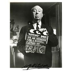 ALFRED HITCHCOCK 8 X 10 SIGNED PHOTO