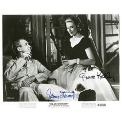 REAR WINDOW  8 X 10 SIGNED BY GRACE KELLY AND JAMES STEWART