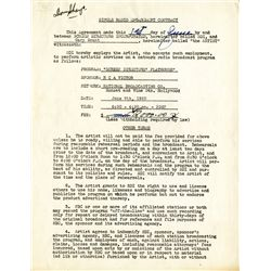 CARY GRANT SIGNED RADIO CONTRACT
