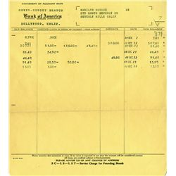 MARILYN MONROE PRINTED BANK STATEMENT