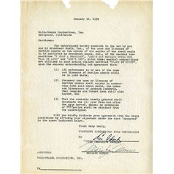 MARILYN MONROE SIGNED LICENSING CONTRACT