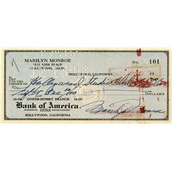 MARILYN MONROE EARLY SIGNED CHECK