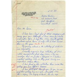 WILLIAM GAINES SIGNED ANNOTATED LETTER EXPLAINING THE ORIGIN OF ALFRED E. NEUMAN.