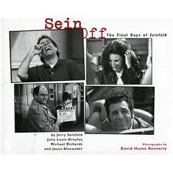 """SEIN OFF"" BOOK OF SEINFELD END SIGNED BY PRINCIPAL CAST PLUS LARRY DAVID"