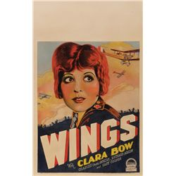 WINGS CLARA BOW ARTWORK-STYLE WINDOW-CARD POSTER
