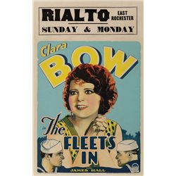 THE FLEET'S IN CLARA BOW WINDOW CARD POSTER