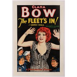 "THE FLEET'S IN CLARA BOW ""STYLE A"" ONE-SHEET POSTER"