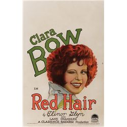 RED HAIR CLARA BOW WINDOW CARD POSTER