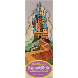SNOW WHITE AND THE SEVEN DWARFS 1950'S REISSUE 20 FT. BANNER AND STANDEE BOXED SET