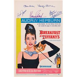BREAKFAST AT TIFFANY'S ORIGINAL WINDOW-CARD POSTER SIGNED BY AUDREY HEPBURN AND OTHERS
