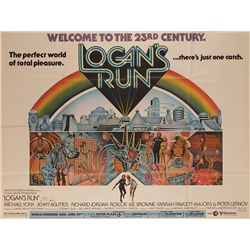 LOGAN'S RUN SUBWAY POSTER SIGNED BY GEORGE CLAYTON JOHNSON