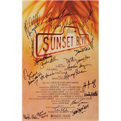 SUNSET BOULEVARD STAGE PRODUCTION POSTER SIGNED BY GLENN CLOSE AND COMPANY