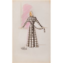 EDITH HEAD COSTUME SKETCH FOR LORETTA YOUNG FROM THE PERFECT MARRIAGE