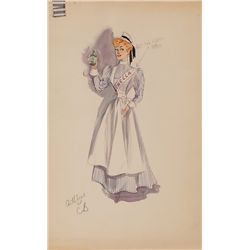 EDITH HEAD COSTUME SKETCHES FOR ADELE JERGENS & MARTHA STEWART FROM AARON SLICK FROM PUNKIN CRICK