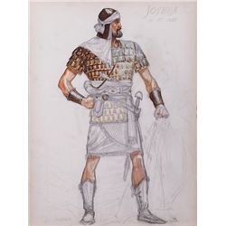 "JOHN JENSEN COSTUME SKETCH FOR ""JOSHUA"" FROM THE TEN COMMANDMENTS"