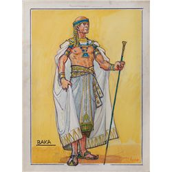 "JOHN JENSEN COSTUME SKETCH FOR ""BAKA"" FROM THE TEN COMMANDMENTS"