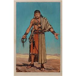 JOHN JENSEN COSTUME ARTWORK OF EDWARD G. ROBINSON FOR THE TEN COMMANDMENTS