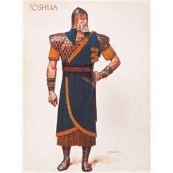 ARNOLD FRIBERG COSTUME SKETCH OF JOSHUA FROM THE TEN COMMANDMENTS