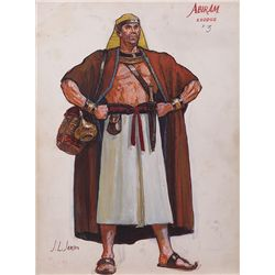 JOHN JENSEN COSTUME SKETCH FOR FRANK DEKOVA FROM THE TEN COMMANDMENTS