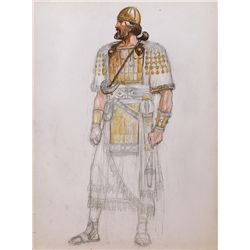 JOHN JENSEN COSTUME SKETCH OF JOSHUA FROM THE TEN COMMANDMENTS