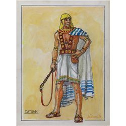 "JOHN JENSEN COSTUME SKETCH FOR ""DATHAN"" FROM THE TEN COMMANDMENTS"