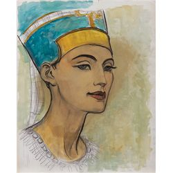 CONCEPT SKETCH FOR NEFERTITI FOR THE TEN COMMANDMENTS