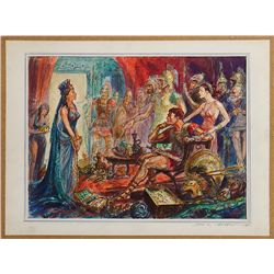 JOHN JENSEN SCENE SKETCH FOR HELEN OF TROY