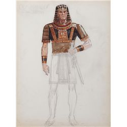 JOHN JENSEN COSTUME SKETCH OF COMMANDER OF THE ARMY FROM THE TEN COMMANDMENTS