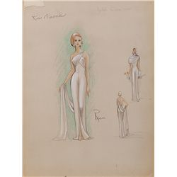 RENIE COSTUME SKETCH OF KIM NOVAK FROM THE LEGEND OF LYLAH CLARE