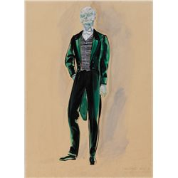 CONCEPT SKETCH FOR THE DISNEYLAND HAUNTED MANSION RIDE ATTENDANT