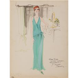 DONALD BROOKS COSTUME SKETCH OF JULIE ANDREWS FOR STAR!