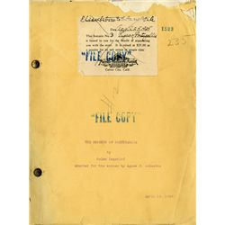 LON CHANEY THE EMPEROR OF PORTUGALLIA ORIGINAL SCRIPT