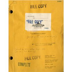 MARK OF THE VAMPIRE SCRIPT WITH ADDITIONAL REVISION PAGES