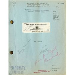 MRS. MINIVER SCRIPT FROM MGM AND SUBSEQUENTLY THE AFI FELDMAN LIBRARY