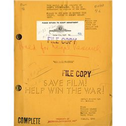LAUREL AND HARDY AIR RAID WARDENS ORIGINAL COMPLETE SCRIPT