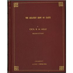 CECIL B. DEMILLE PRESENTATION SCRIPT FROM GREATEST SHOW ON EARTH