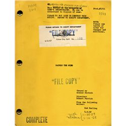 ROD SERLING STUDIO COPY OF SADDLE THE WIND SCRIPT