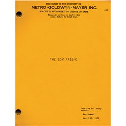 THE BOY FRIEND FILE COPY SCRIPT WRITTEN BY KEN RUSSELL, STARRING TWIGGY