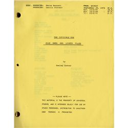 THE INVISIBLE MAN TV SERIES SCRIPT COLLECTION