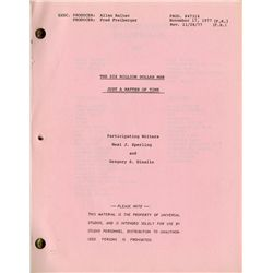 SIX MILLION DOLLAR MAN (70+) SCRIPT COLLECTION