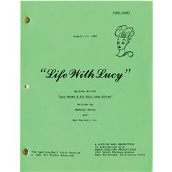 LIFE WITH LUCY TV SCRIPT COLLECTION