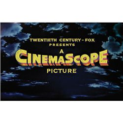 "TWENTIETH CENTURY-FOX  ""PRESENTS IN CINEMASCOPE"" MAIN TITLE CAMERA ART"