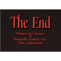 "TWENTIETH CENTURY-FOX ""THE END"" TITLE CAMERA ART"