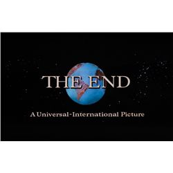 "UNIVERSAL-INTERNATIONAL ""THE END"" TITLE CAMERA ART"