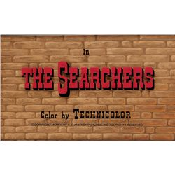 THE SEARCHERS BACKGROUND MAIN-TITLE CAMERA ART