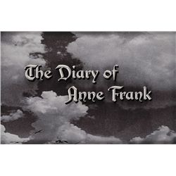 THE DIARY OF ANNE FRANK MAIN TITLE LOGO CAMERA ART