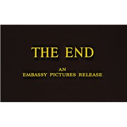 "EMBASSY PICTURES ""THE END"" TITLE CAMERA ART"