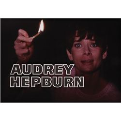 AUDREY HEPBURN NAME-CREDIT CAMERA ART FOR WAIT UNTIL DARK