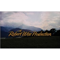 "THE SOUND OF MUSIC ""ROBERT WISE PRODUCTION"" TITLE CREDIT CAMERA ART"
